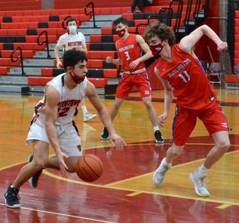 Burlington pulls away from Watertown boys' basketball team
