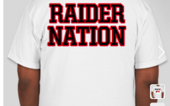 The back view of the Raider Nation shirts being sold by the WHS Class of 2021 through Friday, Feb. 12. Short sleeve shirts cost $15, and long sleeve are $20.