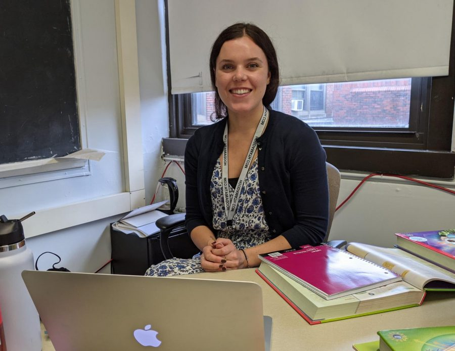 New math teacher Sarah Mepham has traveled the world to come to Watertown High